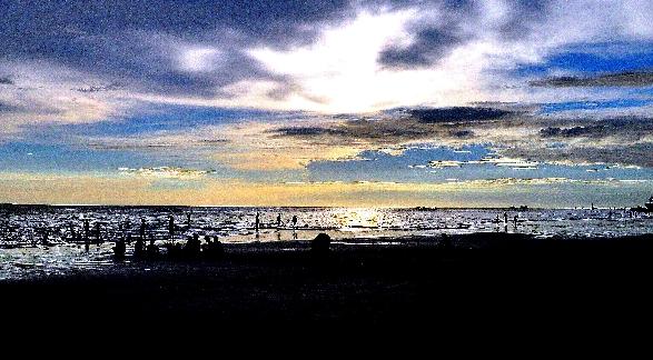 Sunset at Boracay Shores