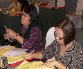 Karen and Bing looking busy