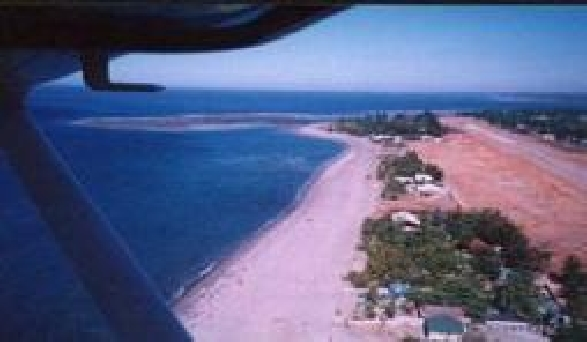 White Castle Beach from the air