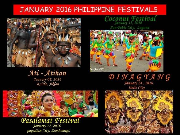 January 2016 Philippines Festivals